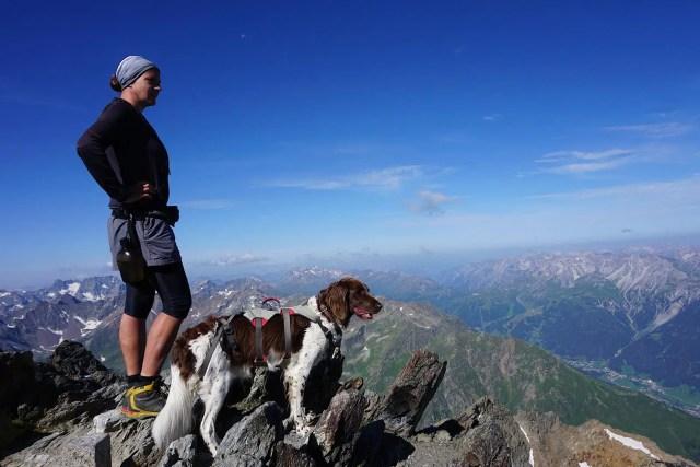 Hund Bergwandern