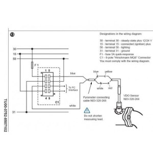 Viewline Pyrometer (Exhaust Temp) Gauge (900°C)