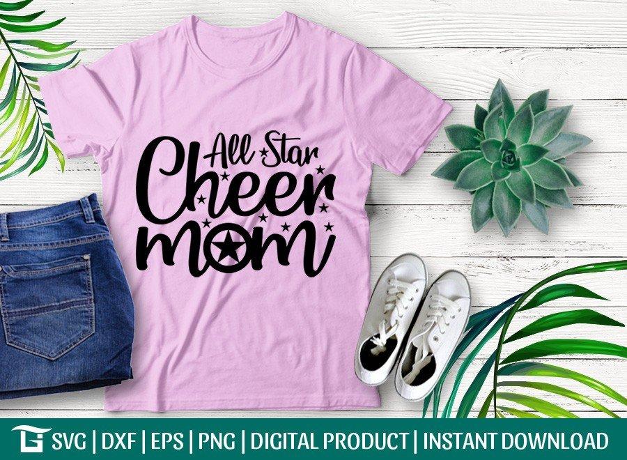 All-Star Cheer Mom SVG | Star SVG | T-shirt Design