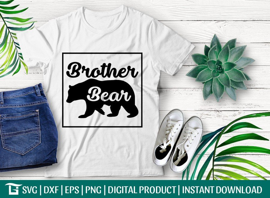 Brother Bear SVG | Bear Family SVG | T-shirt Design