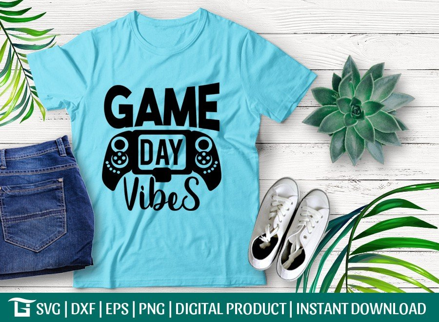 Game Day Vibes SVG | Baseball | Football | T-shirt Design