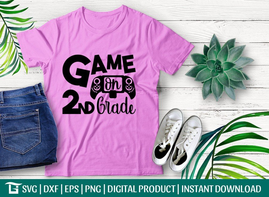 Game On 2nd Grade SVG | First Day School | T-shirt Design