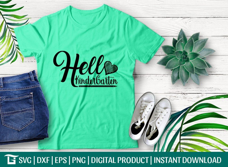 Hello Kindergarten SVG | Back To School SVG | T-shirt Design