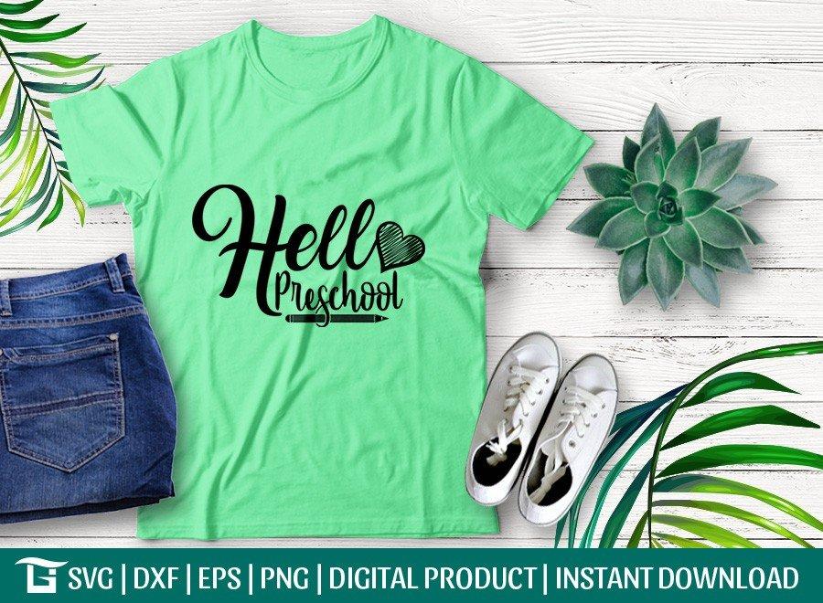 Hello Preschool SVG | Back To School SVG T-shirt Design
