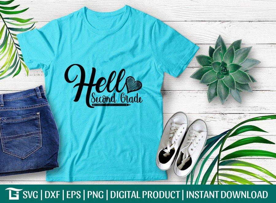 Hello Second Grade SVG | Back To School SVG T-shirt Design