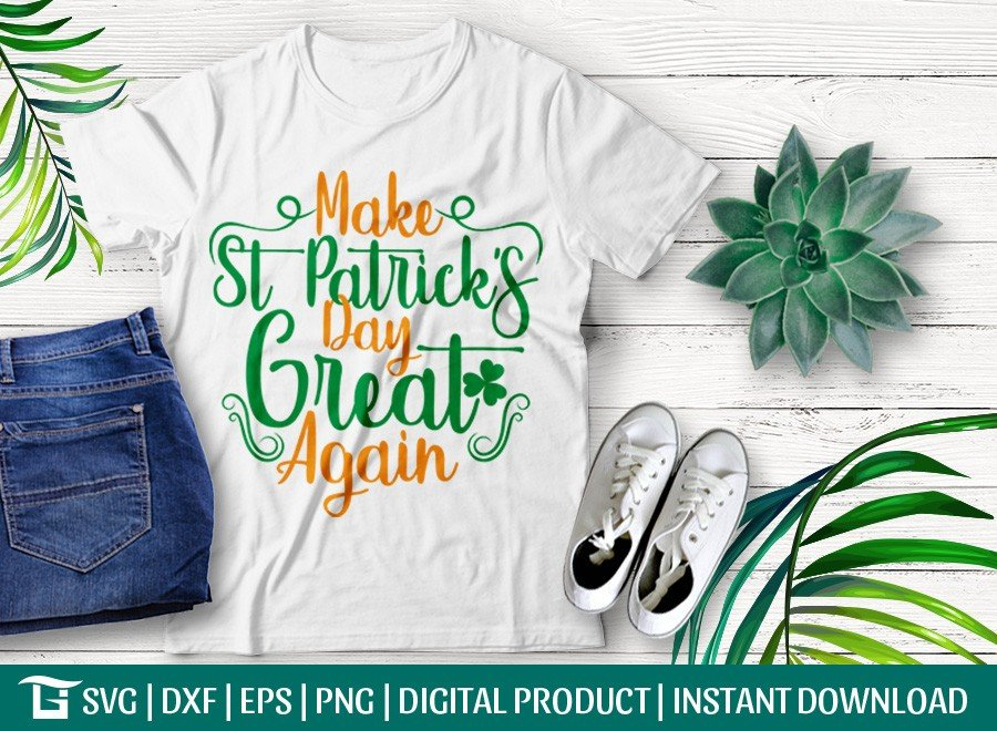 Make St Patricks Day Great Again SVG | T-shirt Design