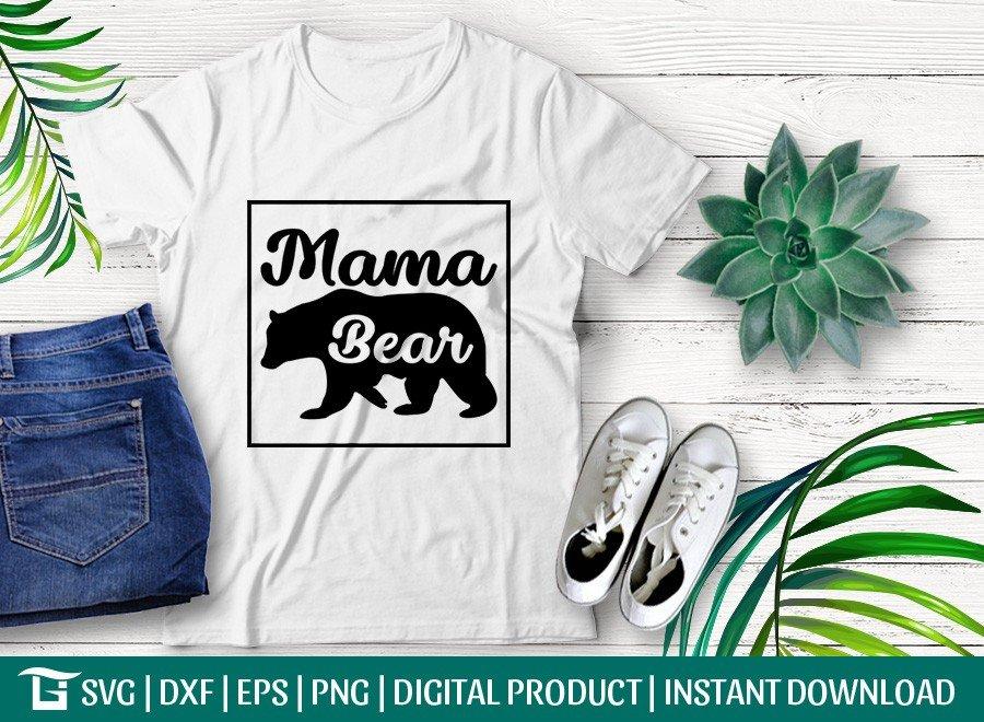 Mama Bear SVG | Bear Mom SVG | T-shirt Design