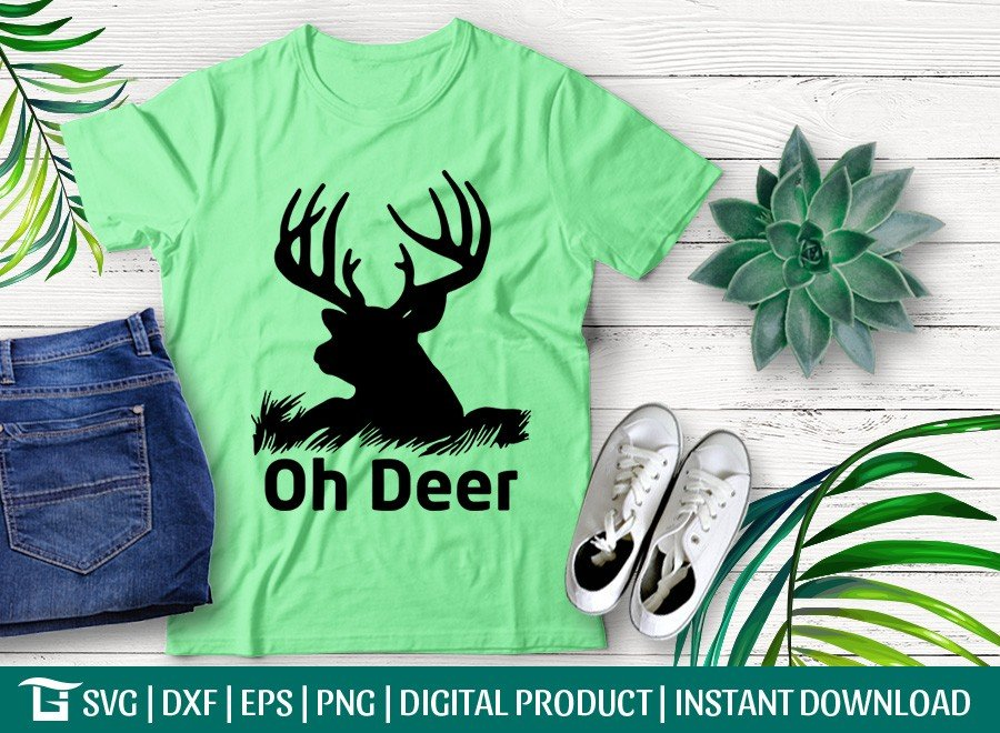 Oh Deer SVG | Deer Head SVG