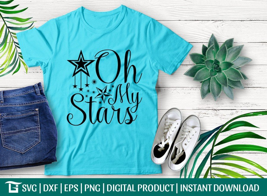 Oh My Stars SVG | 4th of july SVG | T-shirt Design