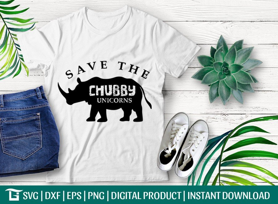 Save The Chubby Unicorns SVG | Animal SVG