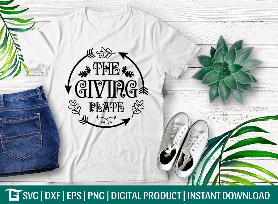 The Giving Plate SVG | Thanksgiving SVG | T-shirt Design