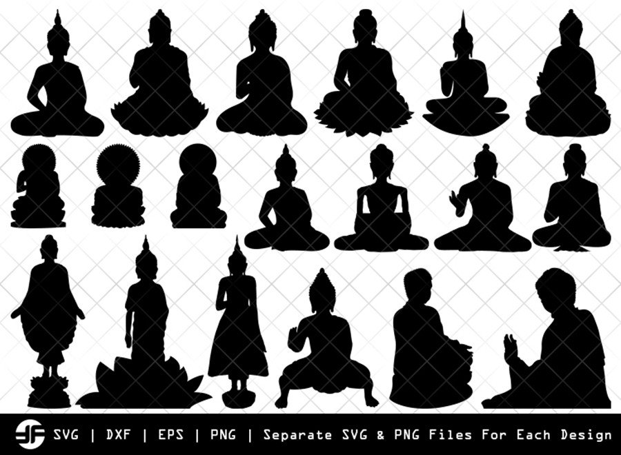 Buddha SVG | Silhouette Bundle | SVG Cut File