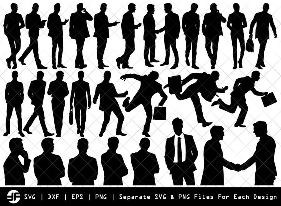 Business Men SVG | Silhouette Bundle | SVG Cut File