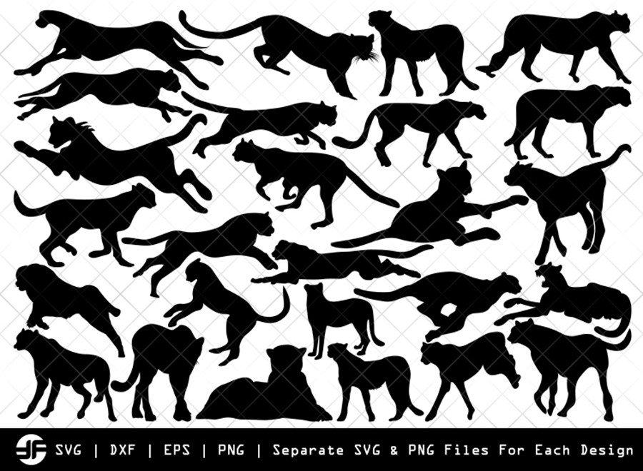 Cheetah SVG | Animal SVG | Silhouette Bundle | Cut File
