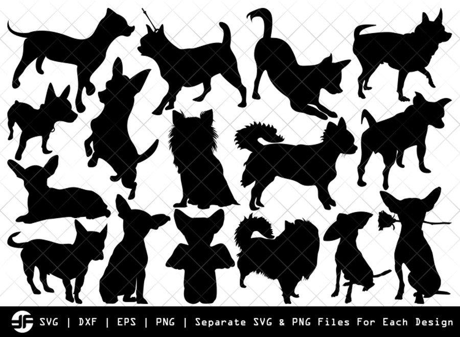Chihuahua Dog SVG | Animal | Silhouette Bundle | Cut File