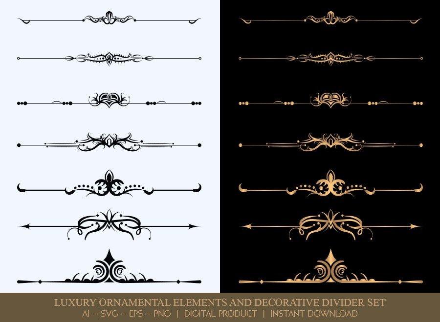 Luxury Decorative Divider Set SVG Cut Files   DDS017