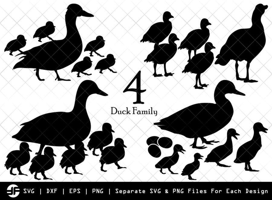 Duck Family SVG | Animal SVG | Silhouette Bundle | Cut File