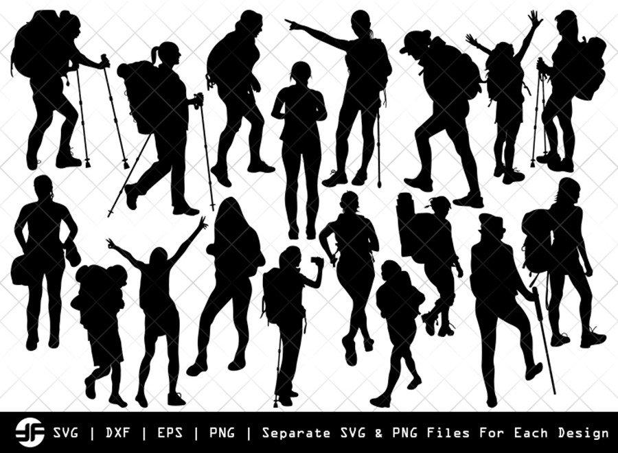 Female Hiker SVG | Silhouette Bundle | SVG Cut File