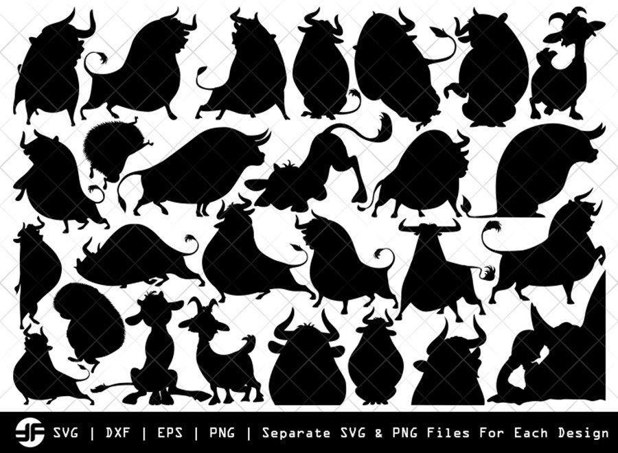 Ferdinand SVG | Bull Fight SVG | Silhouette Bundle | Cut File