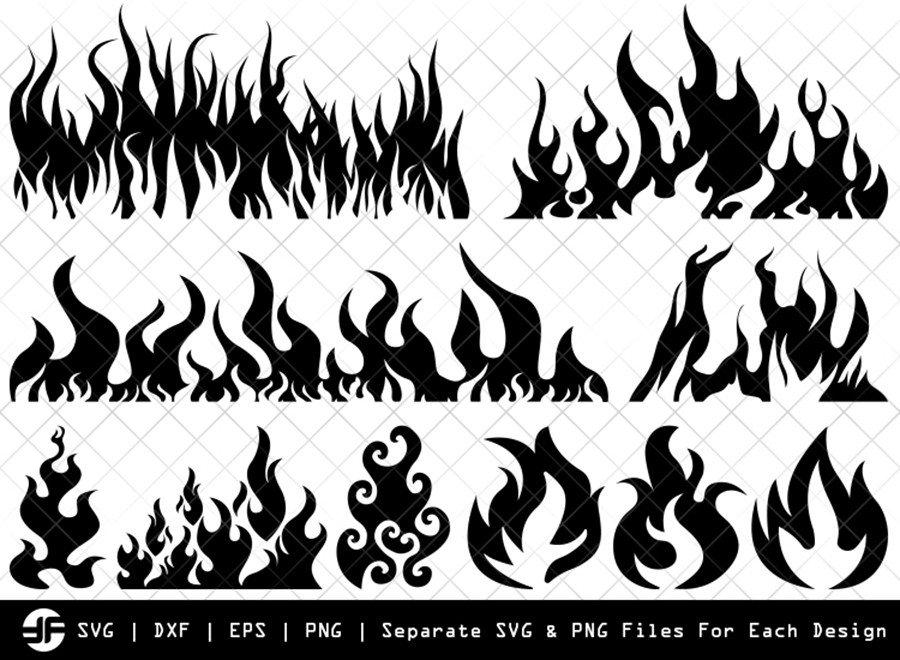 Fire SVG | Flame SVG | Silhouette Bundle | SVG Cut File