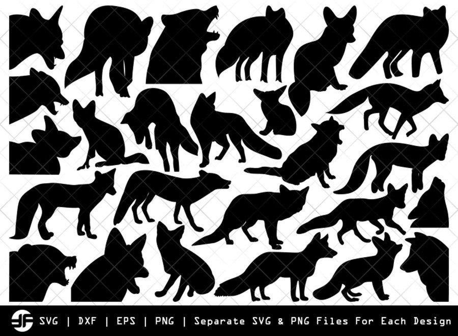 Fox SVG | Animal SVG | Silhouette Bundle | SVG Cut File