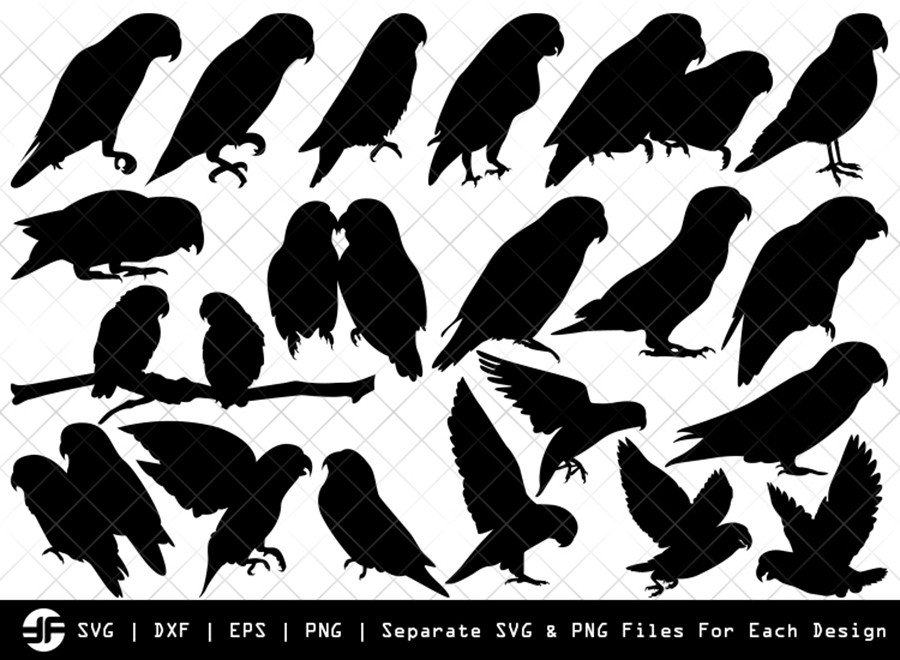 Love Birds SVG | Bird Silhouette Bundle | SVG Cut File
