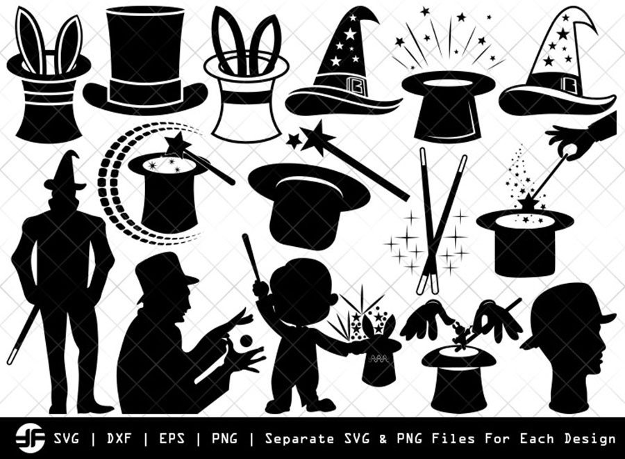 Magic SVG | Magic Silhouette Bundle | SVG Cut File