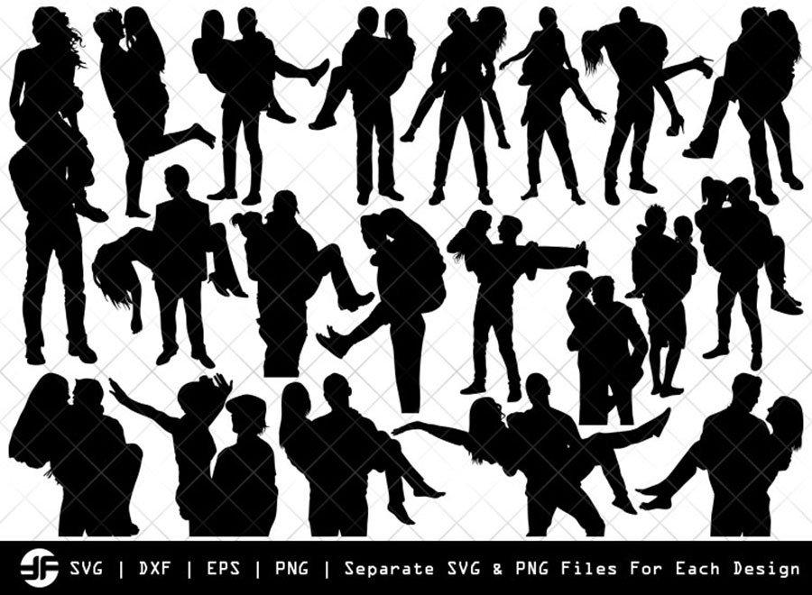 Man Carrying Woman SVG | Silhouette Bundle | SVG Cut File
