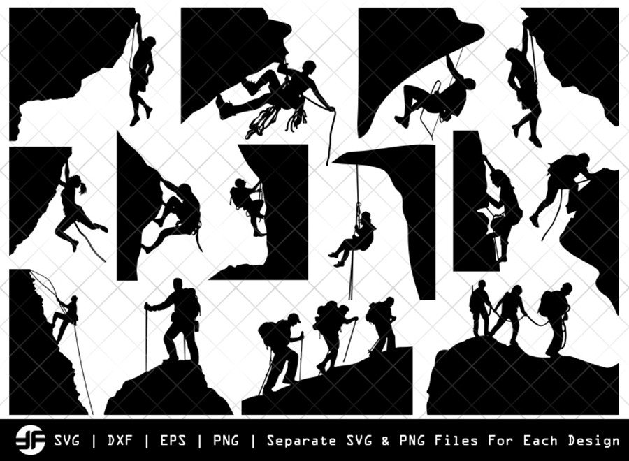 Mountain Climbing SVG | Silhouette Bundle | SVG Cut File