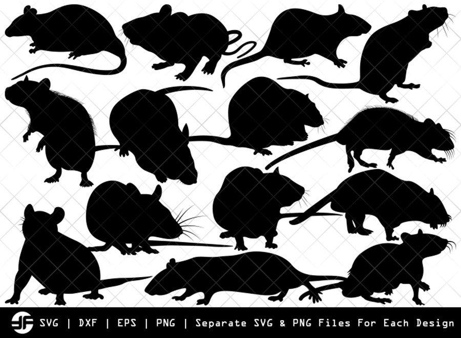 Rat SVG | Animal SVG | Silhouette Bundle | SVG Cut File
