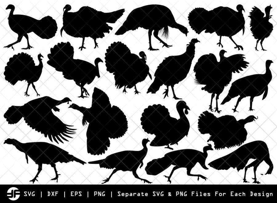 Turkey SVG | Animal SVG | Silhouette Bundle | SVG Cut File
