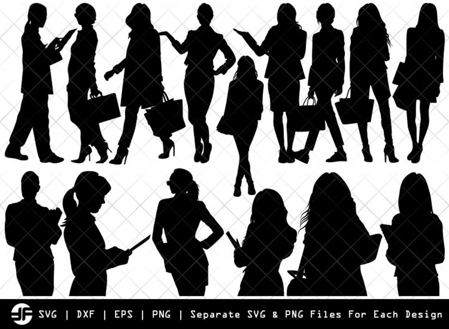 Working Woman SVG | Silhouette Bundle | SVG Cut File