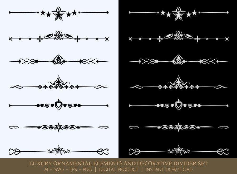 Luxury Decorative Divider Set SVG Cut Files | DDS037