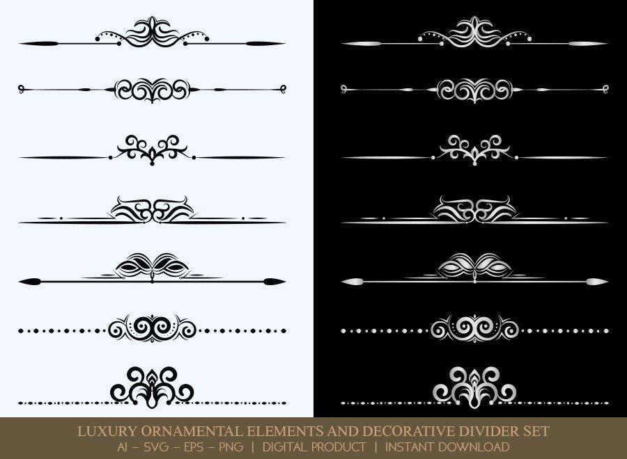 Luxury Decorative Divider Set SVG Cut Files | DDS043