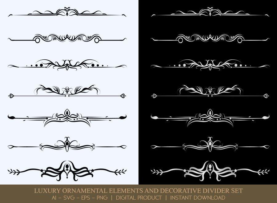 Luxury Decorative Divider Set SVG Cut Files   DDS045