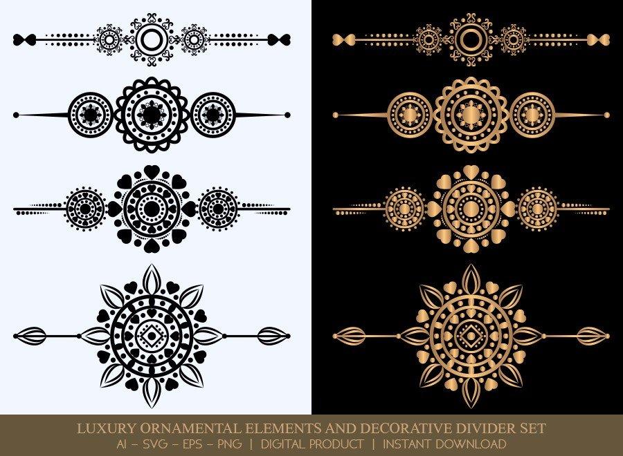 Luxury Decorative Divider Set SVG Cut Files | DDS054