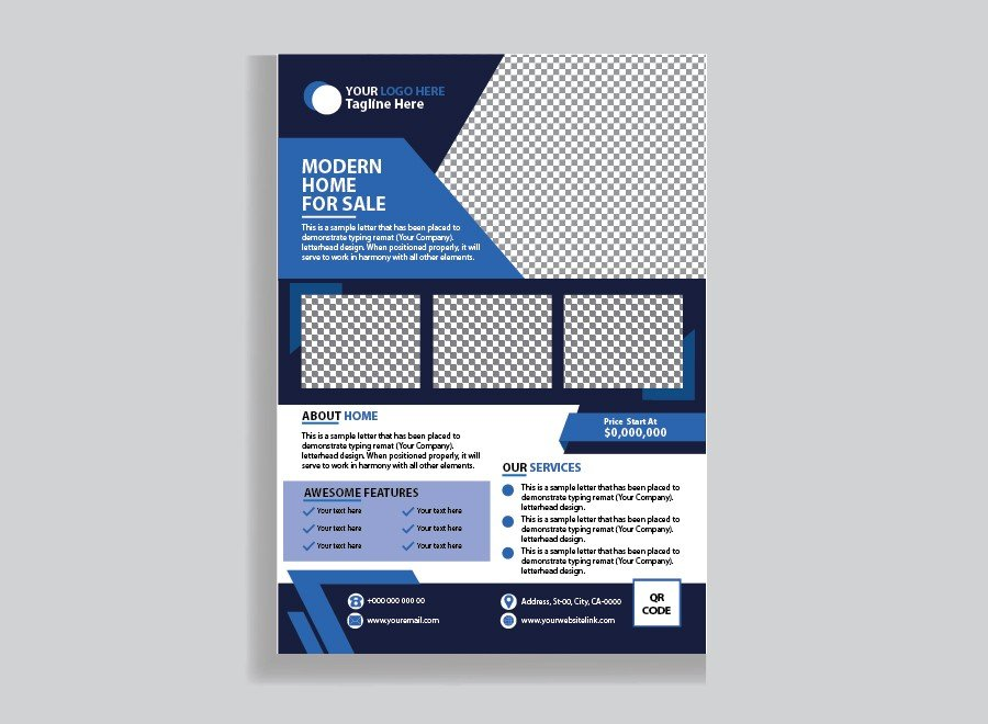 Corporate Business Flyer, Real Estate Template Design