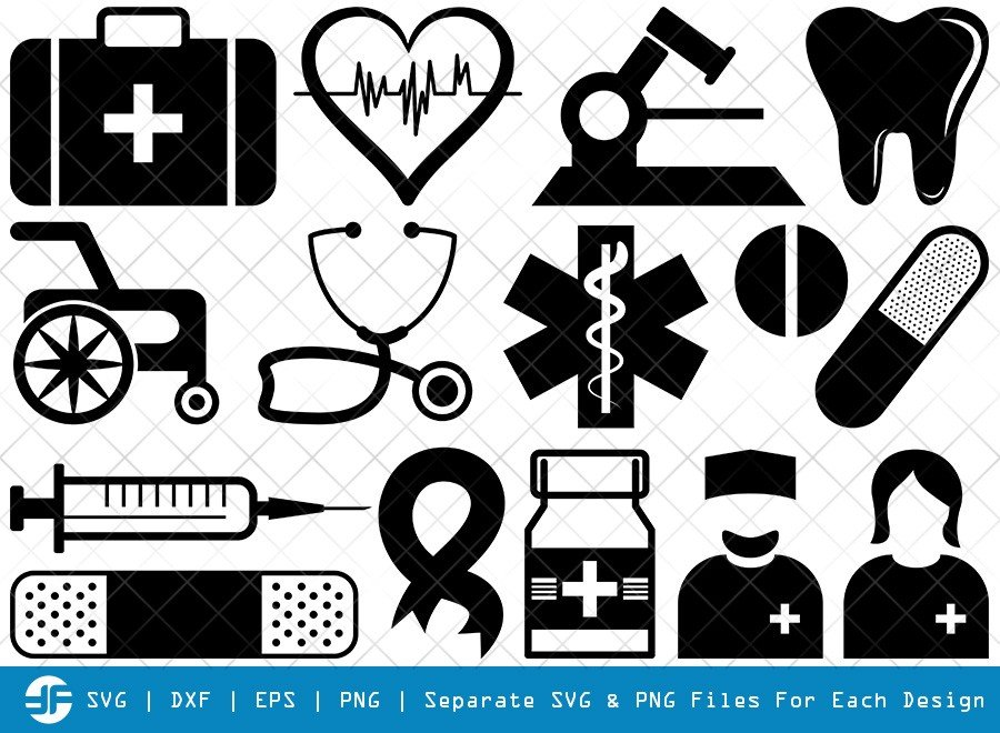 Medical Symbol SVG Cut Files | Hospital Symbol Silhouette