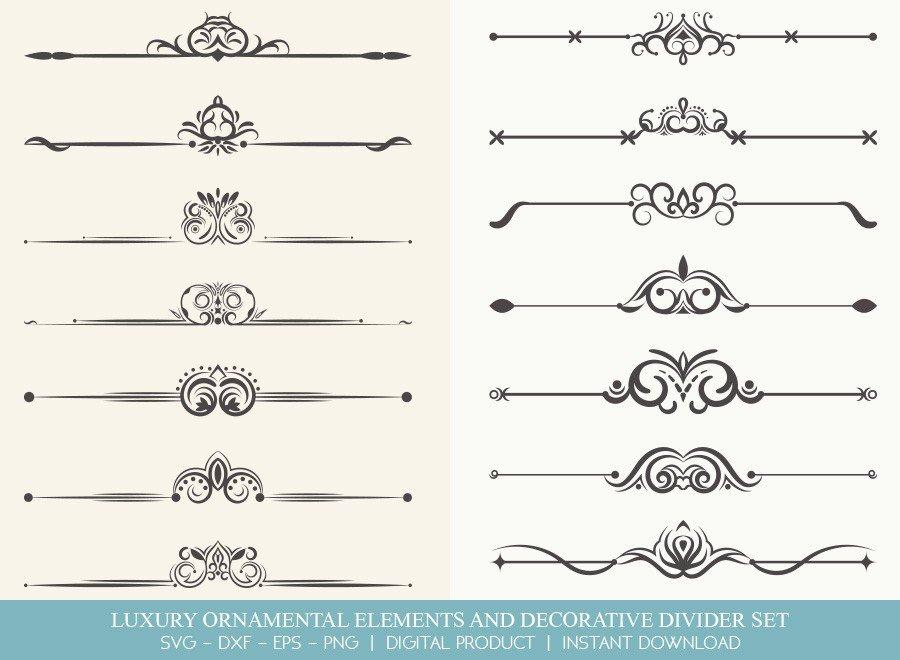 Luxury Ornament Divider Set SVG Cut Files | DDS0024