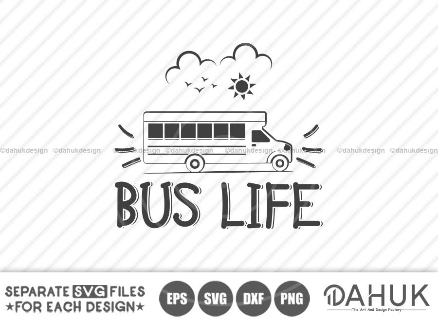 BUS LIFE, Bus Boss svg, Back To School svg, Bus Driver Gift