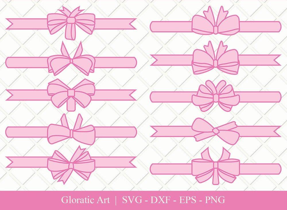 Bow and Ribbon Clipart SVG Cut Files   Bow Ribbon Svg