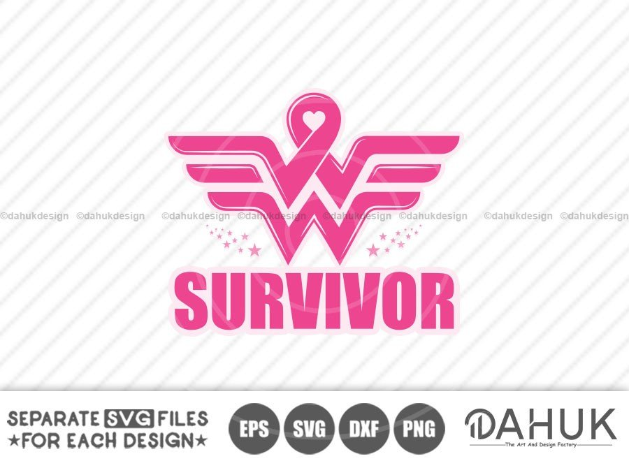 Wonder Woman Breast Cancer Survivor svg, Survivor svg