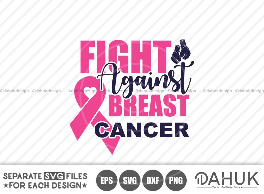 Fight against breast cancer svg, Awareness Month 2020