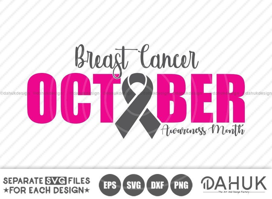 Breast Cancer October Awareness Month svg, eps, dxf, png