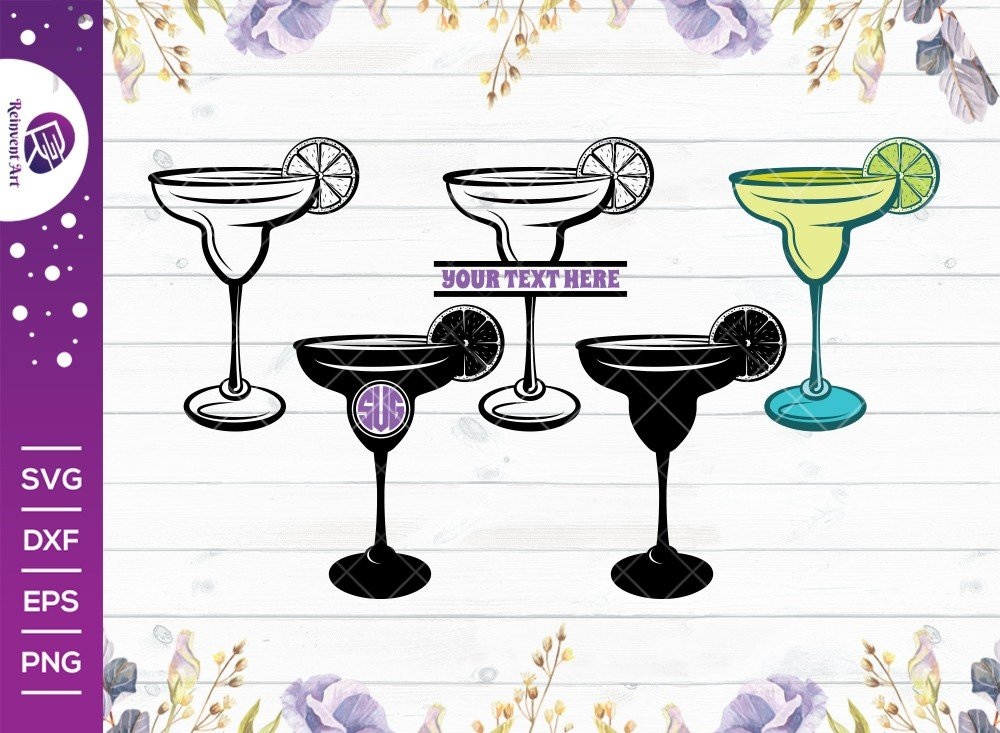 Margarita Glass SVG Cut File | Margarita Glass With Lime Svg