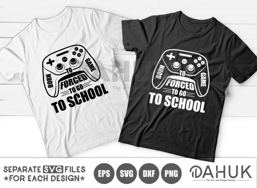 Born to game, Forced to go to school SVG