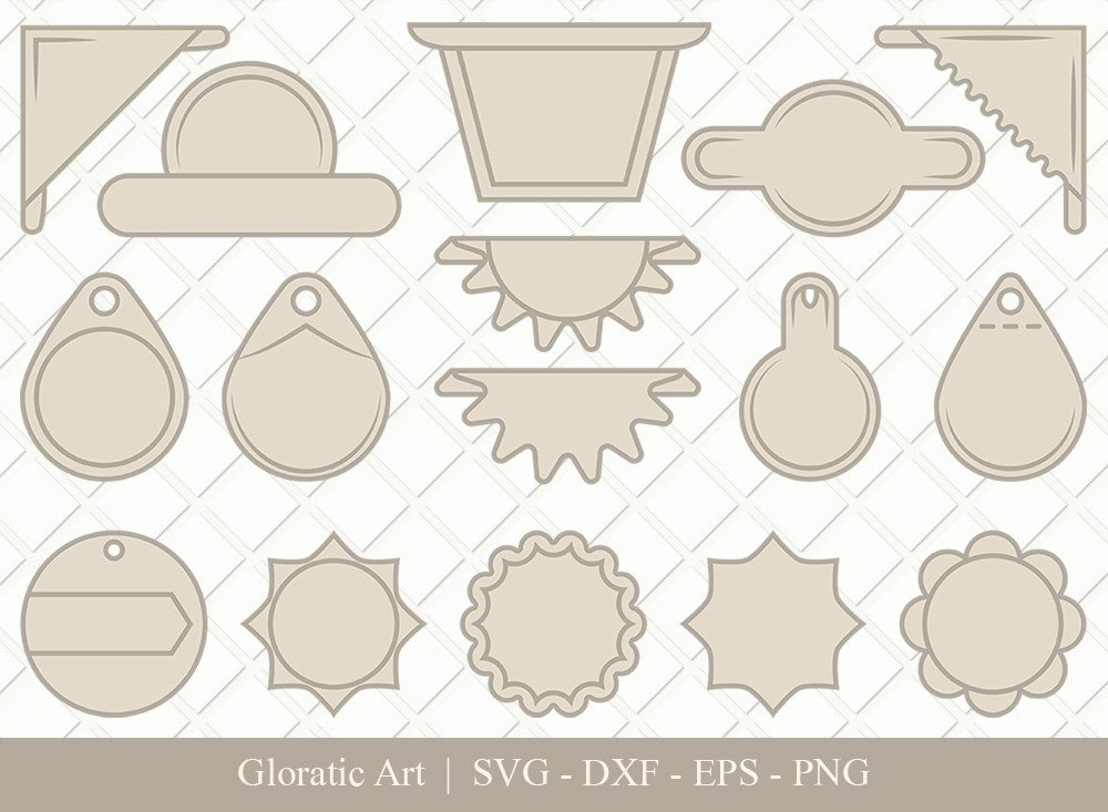 Gift Tag Ribbon Clipart SVG Cut Files | Gift Tag Svg