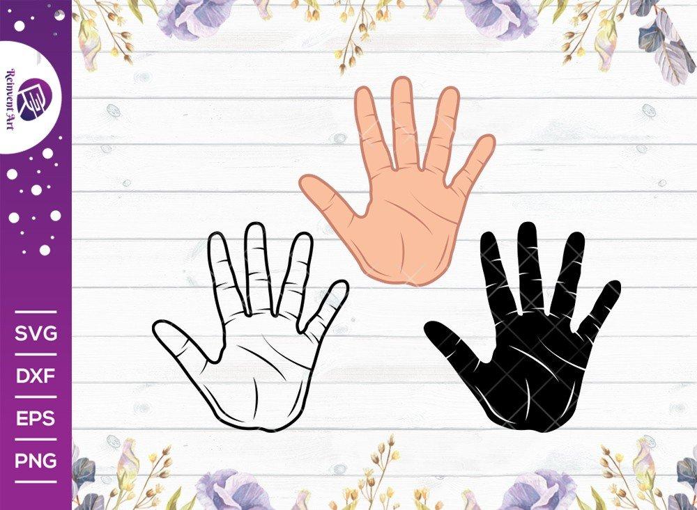 High Five SVG Cut File | Hand SVG | Fingers High Five SVG