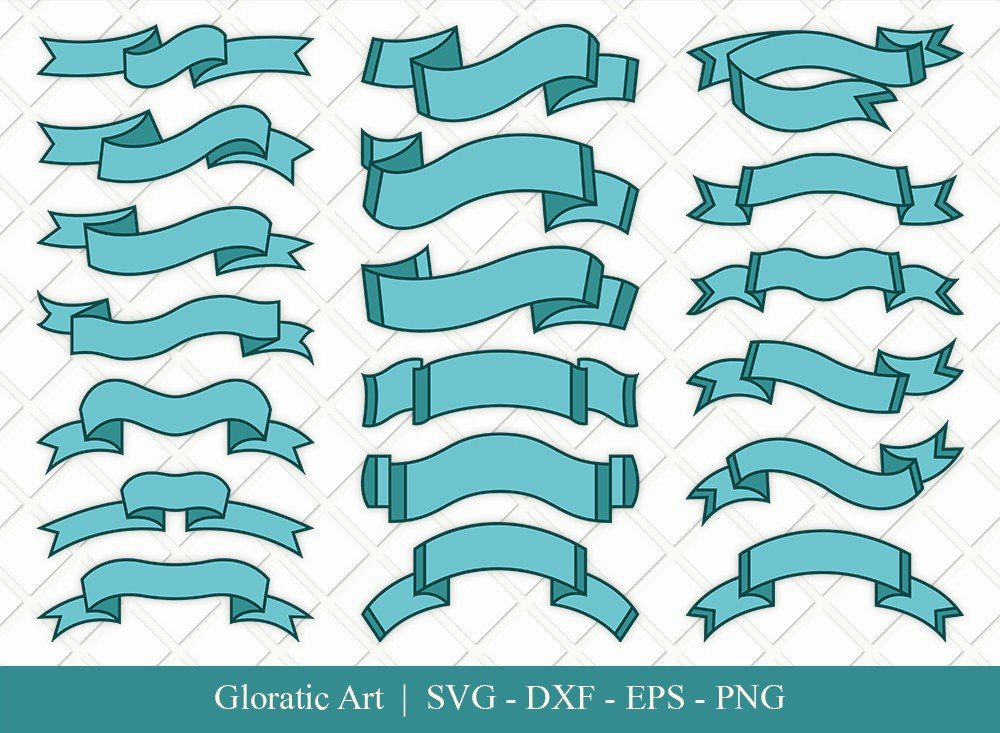 Text Ribbon Clipart SVG Cut Files | Text Banner Svg | TRC001