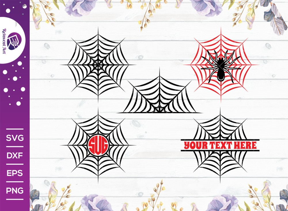 Spider Web SVG Cut File | Spider Svg | Cobweb Svg